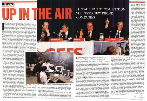 Article Preview: UP IN THE AIR, May 1995 | Maclean's