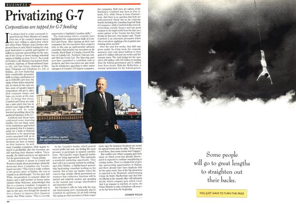 Article Preview: Privatizing G-7, May 1995 | Maclean's