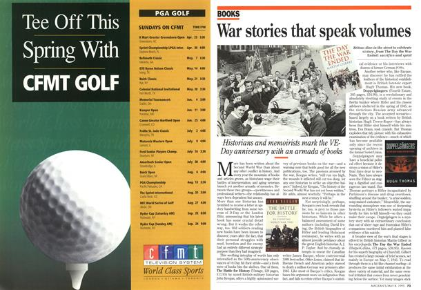 Article Preview: War stories that speak volumes, May 1995 | Maclean's