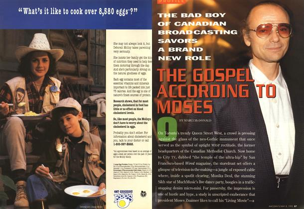 Article Preview: THE GOSPEL ACCORDING TO MOSES, May 1995 | Maclean's