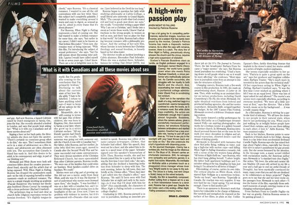 Article Preview: A high-wire passion play, May 1995 | Maclean's