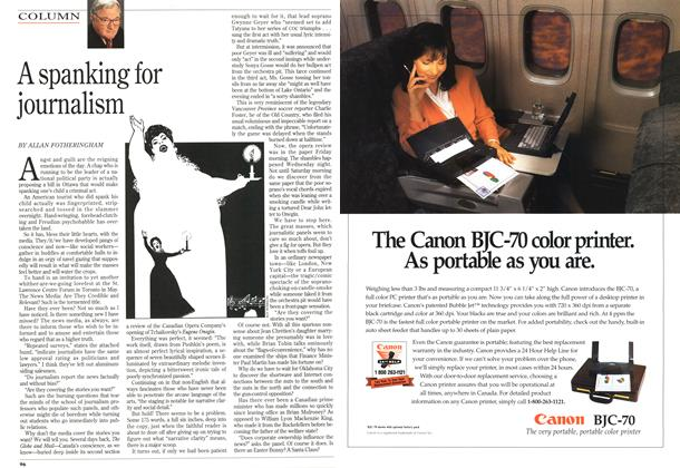 Article Preview: A spanking for journalism, May 1995 | Maclean's