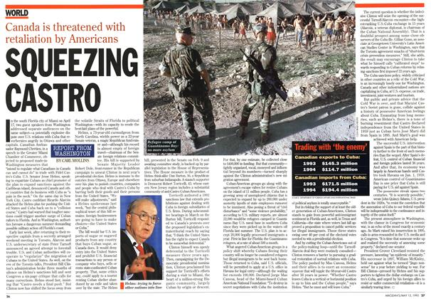 Article Preview: SQUEEZING CASTRO, May 1995 | Maclean's