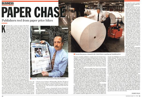 Article Preview: PAPER CHASE, May 1995 | Maclean's