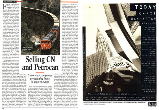 Article Preview: Selling CN and Petrocan, May 1995 | Maclean's