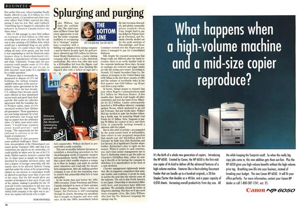 Article Preview: Splurging and purging, May 1995 | Maclean's