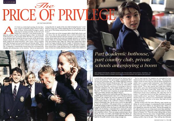 Article Preview: THE PRICE OF PRIVILEGE, May 1995 | Maclean's