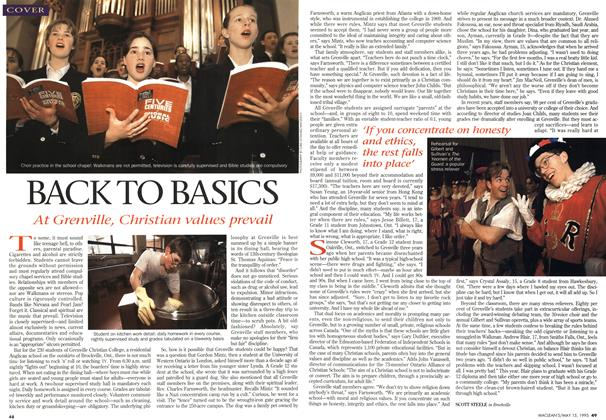 Article Preview: BACK TO BASICS, May 1995 | Maclean's