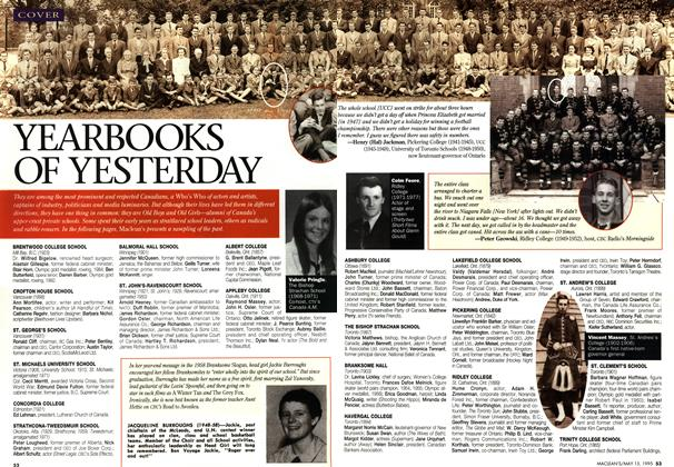 Article Preview: YEARBOOKS OF YESTERDAY, May 1995 | Maclean's