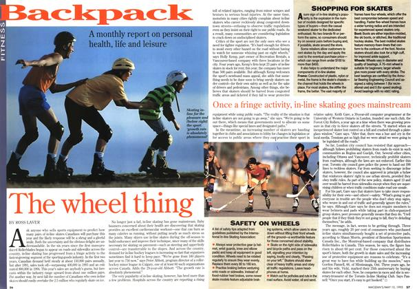 Article Preview: The wheel thing, May 1995 | Maclean's