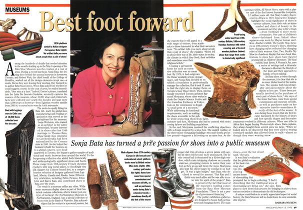 Article Preview: Best foot forward, May 1995 | Maclean's