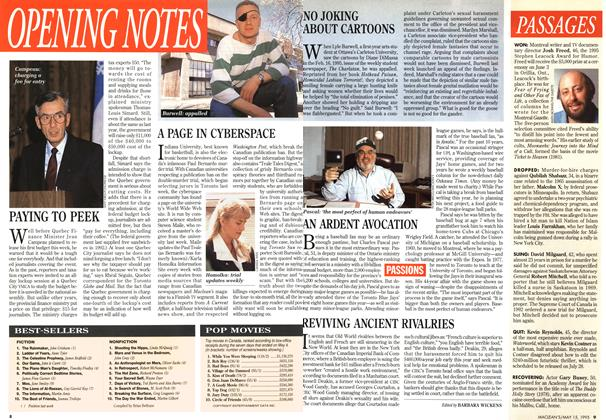 Article Preview: OPENING NOTES, May 1995 | Maclean's