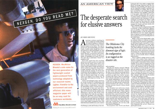 Article Preview: The desperate search for elusive answers, May 1995 | Maclean's