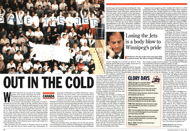 Article Preview: OUT IN THE COLD, May 1995 | Maclean's