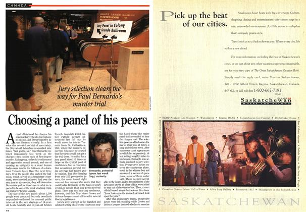 Article Preview: Choosing a panel of his peers, May 1995 | Maclean's
