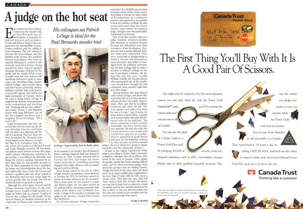 Article Preview: A judge on the hot seat, May 1995 | Maclean's