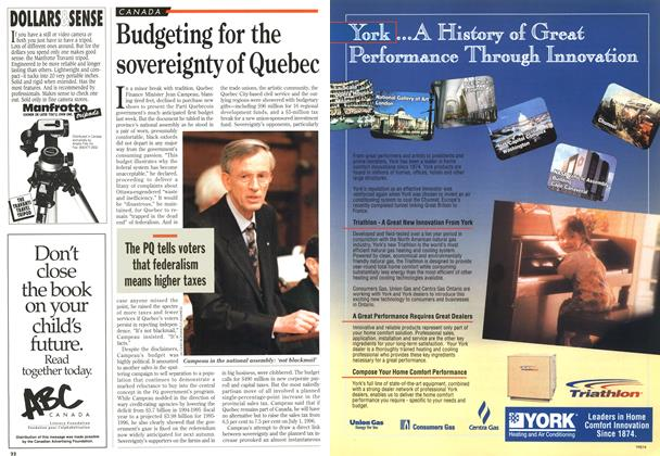 Article Preview: Budgeting for the sovereignty of Quebec, May 1995 | Maclean's
