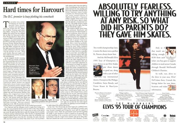 Article Preview: Hard times for Harcourt, May 1995 | Maclean's