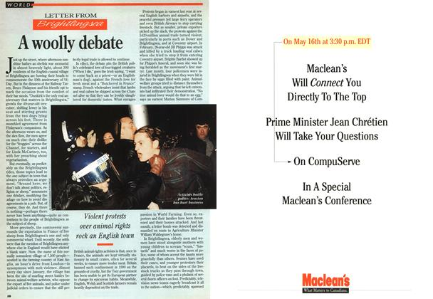 Article Preview: A woolly debate, May 1995 | Maclean's