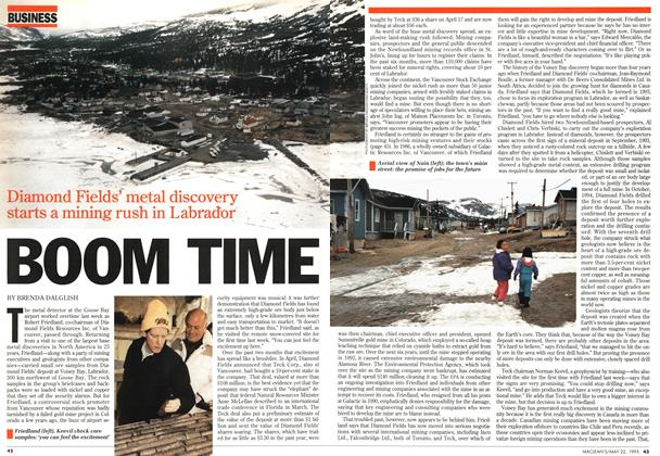 Article Preview: BOOM TIME, May 1995 | Maclean's