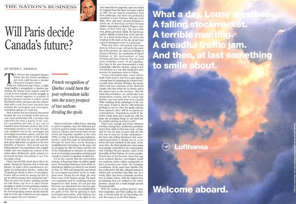 Article Preview: Will Paris decide Canada's future?, May 1995 | Maclean's