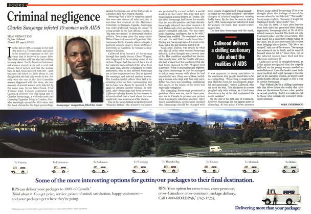 Article Preview: Criminal negligence, May 1995 | Maclean's