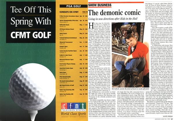Article Preview: The demonic comic, May 1995 | Maclean's