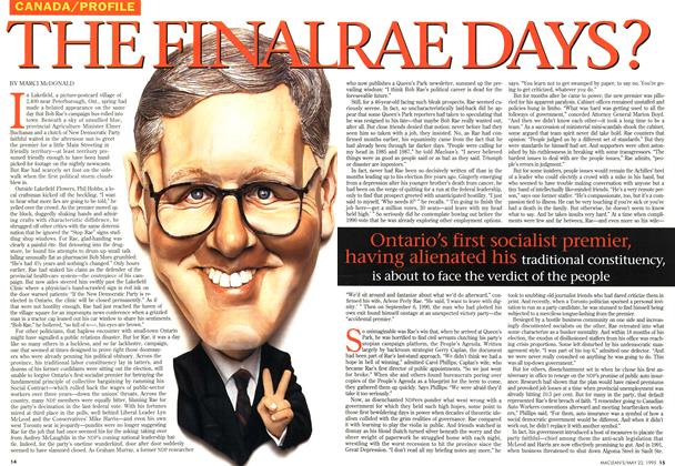 Article Preview: THE FINAL RAE DAYS, May 1995 | Maclean's