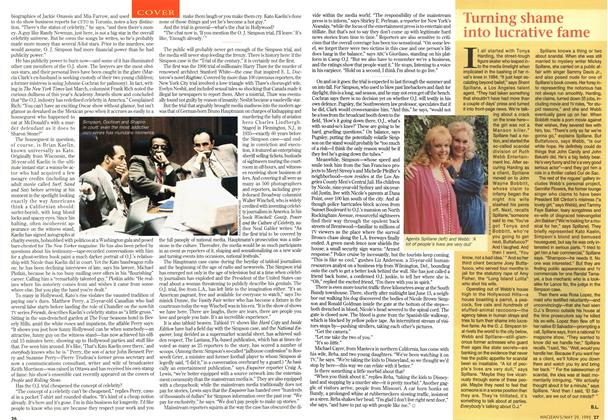 Article Preview: Turning shame into lucrative fame, May 1995 | Maclean's