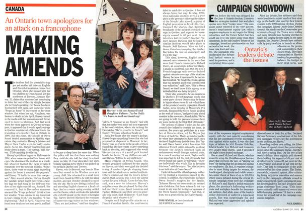 Article Preview: CAMPAIGN SHOWDOWN, May 1995 | Maclean's