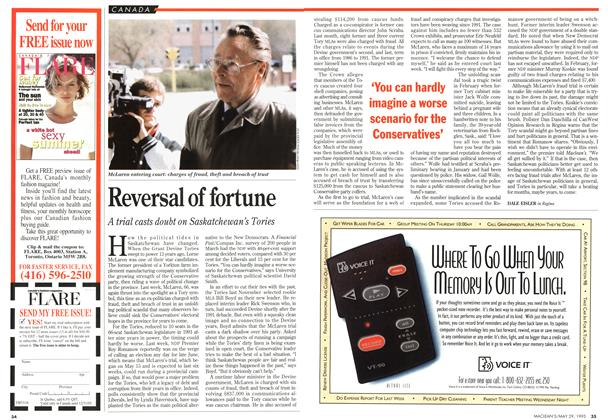 Article Preview: Reversal of fortune, May 1995 | Maclean's