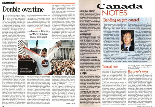 Article Preview: Double overtime, May 1995 | Maclean's