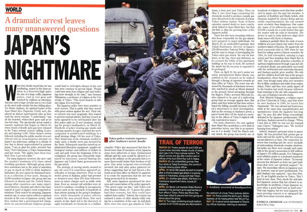 Article Preview: JAPAN'S NIGHTMARE, May 1995 | Maclean's
