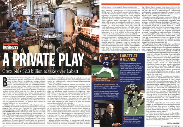 Article Preview: A PRIVATE PLAY, May 1995 | Maclean's