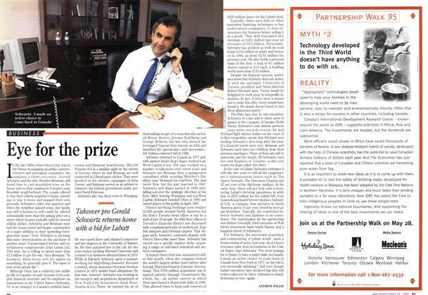 Article Preview: Eye for the prize, May 1995 | Maclean's