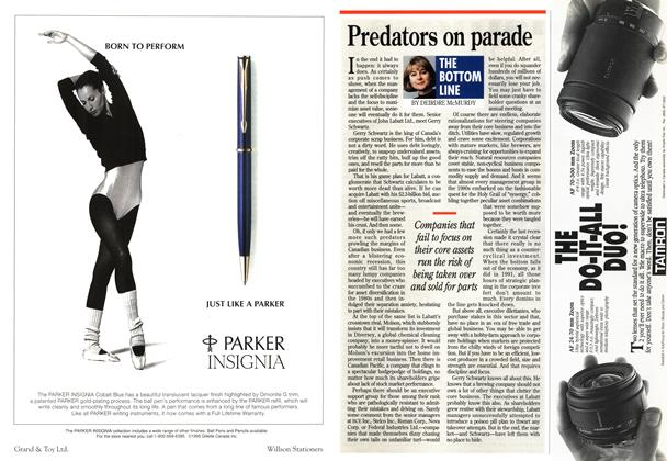 Article Preview: Predators on parade, May 1995   Maclean's