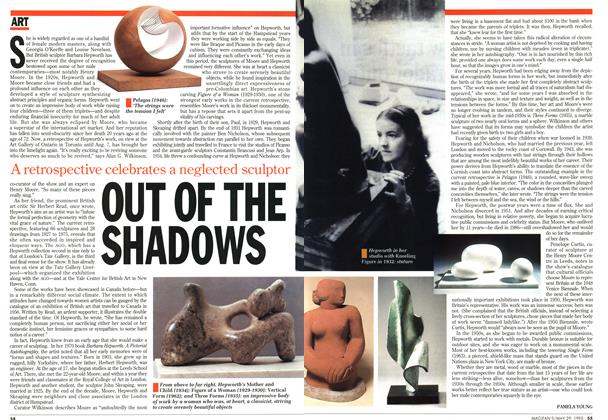 Article Preview: OUT OF THE SHADOWS, May 1995 | Maclean's