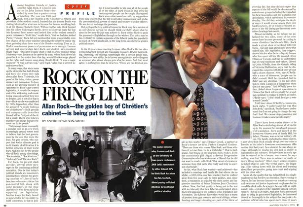 Article Preview: ROCK ON THE FIRING LINE, June 1995 | Maclean's