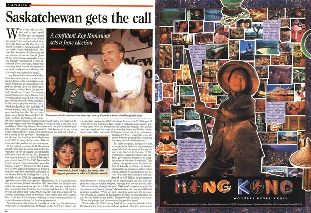 Article Preview: Saskatchewan gets the call, June 1995 | Maclean's