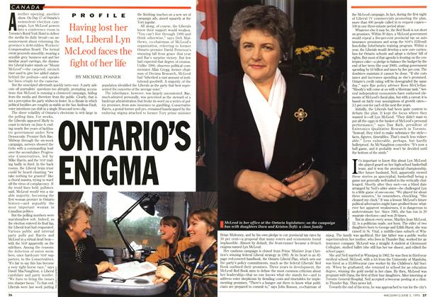Article Preview: ONTARIO'S ENIGMA, June 1995 | Maclean's