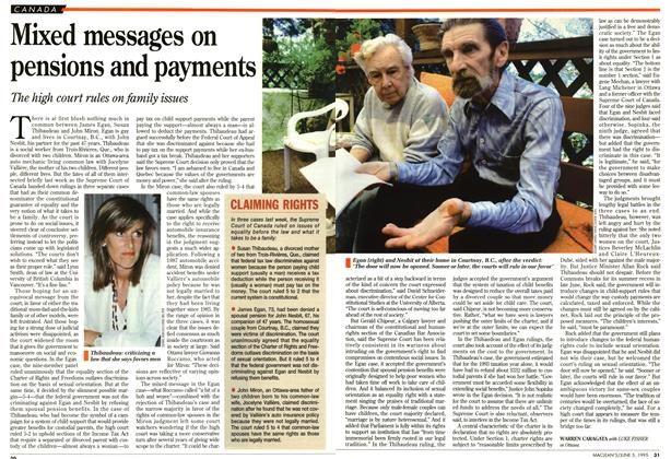 Article Preview: Mixed messages on pensions and payments, June 1995 | Maclean's
