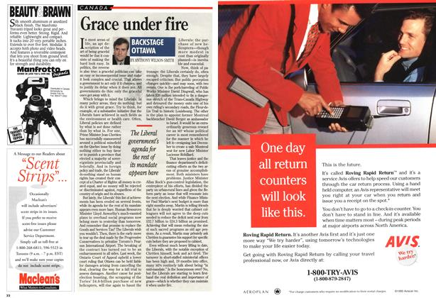 Article Preview: Grace under fire, June 1995 | Maclean's