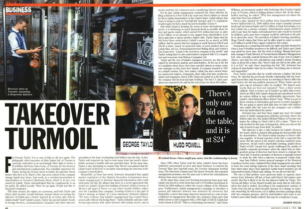 Article Preview: TAKEOVER TURMOIL, June 1995 | Maclean's