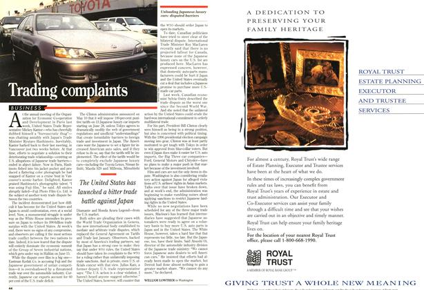 Article Preview: Trading complaints, June 1995 | Maclean's