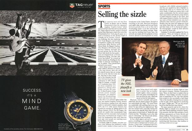 Article Preview: Selling the sizzle, June 1995 | Maclean's