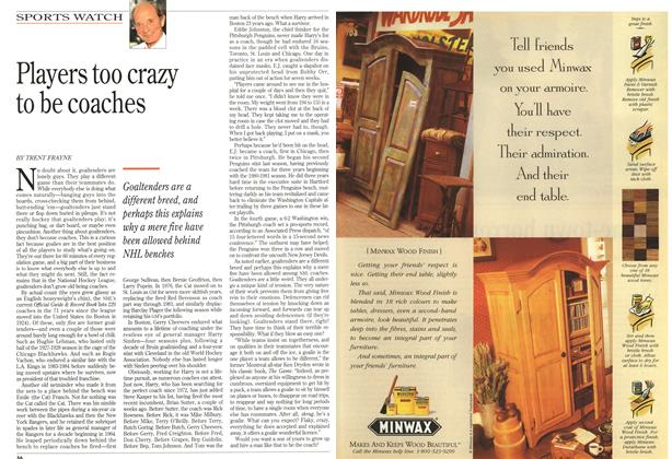 Article Preview: Players too crazy to be coaches, June 1995 | Maclean's