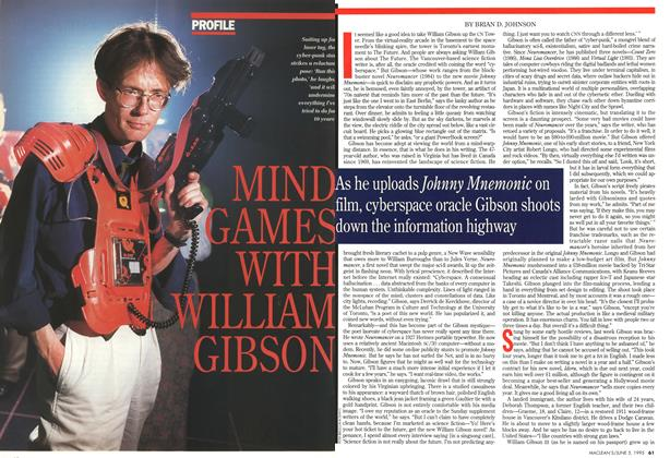 Article Preview: MIND GAMES WITH WILLAM GIBSON, June 1995 | Maclean's