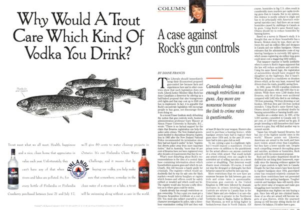 Article Preview: A case against Rock's gun controls, June 1995 | Maclean's