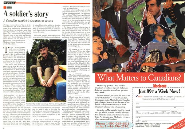 Article Preview: A soldier's story, June 1995 | Maclean's