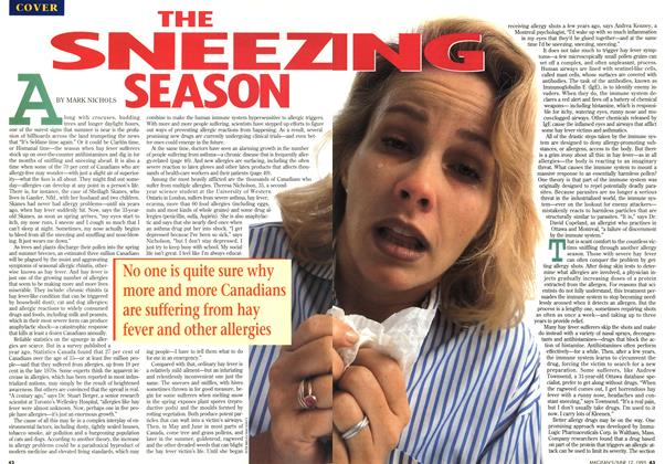 Article Preview: THE SNEEZING SEASON, June 1995 | Maclean's